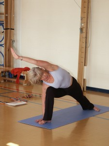 Yoga asana lateral